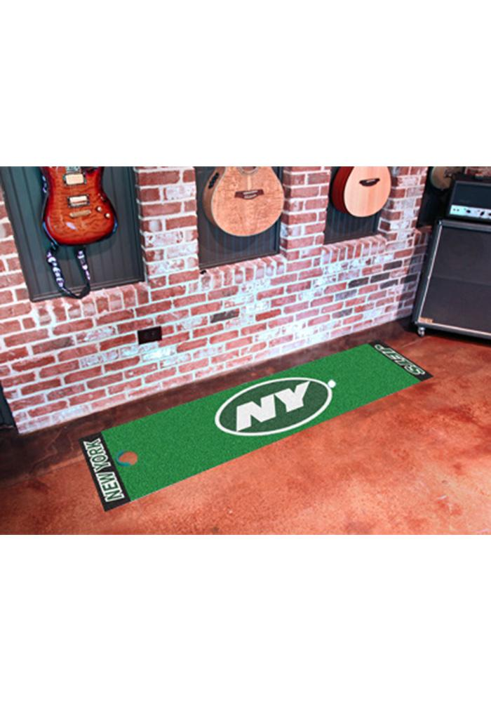New York Jets 18x72 Putting Green Runner Interior Rug - Image 1