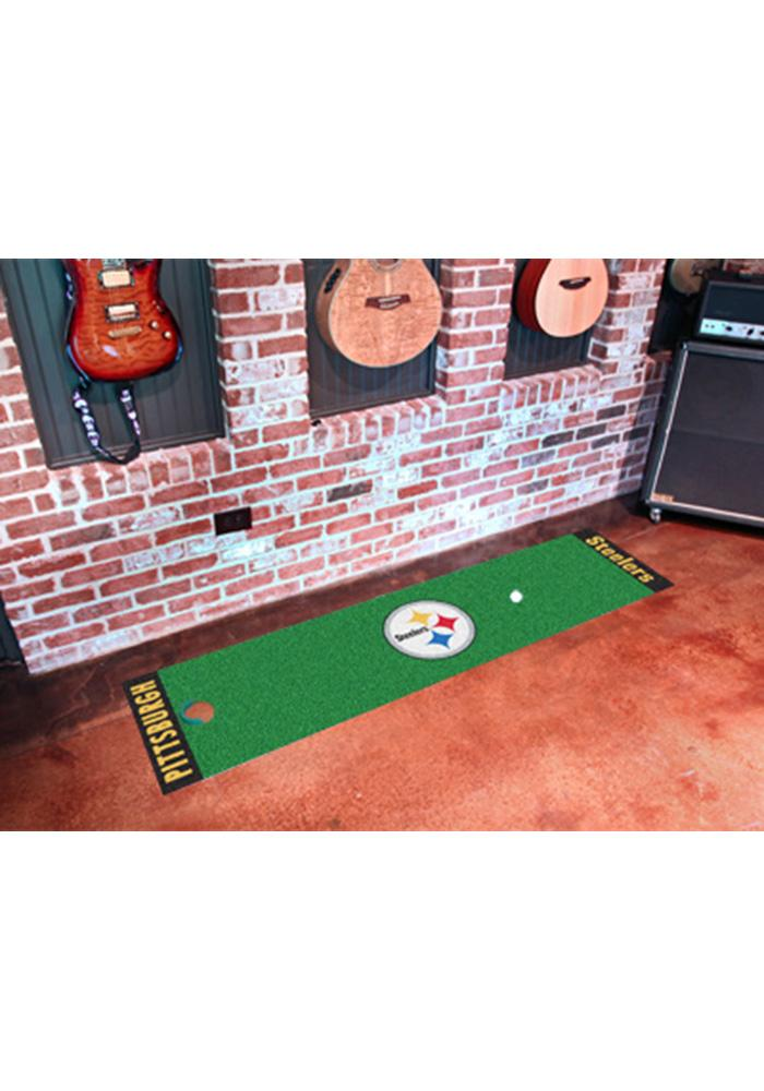 Pittsburgh Steelers 18x72 Putting Green Runner Interior Rug - Image 1
