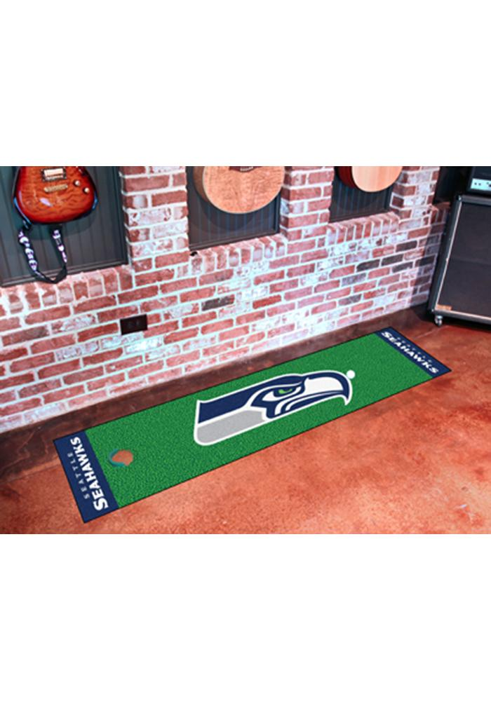 Seattle Seahawks 18x72 Putting Green Runner Interior Rug - Image 1