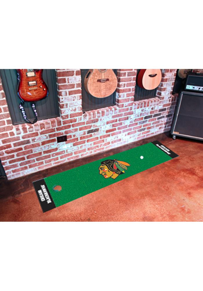 Chicago Blackhawks 18x72 Putting Green Runner Interior Rug - Image 1