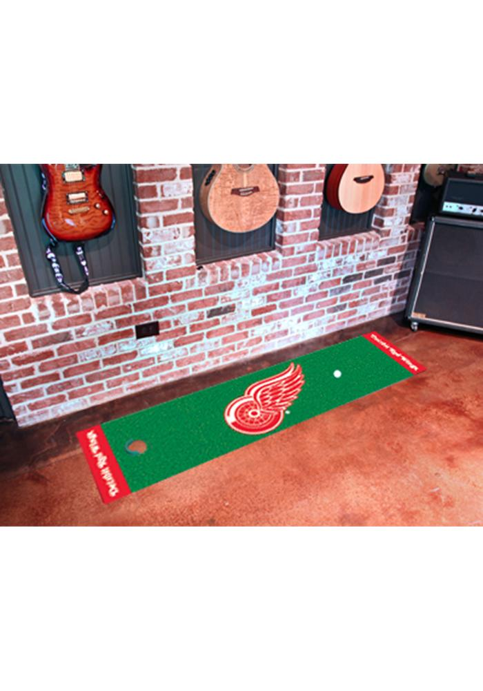Detroit Red Wings 18x72 Putting Green Runner Interior Rug - Image 1