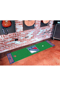 NY Rangers 18x72 Putting Green Runner Interior Rug