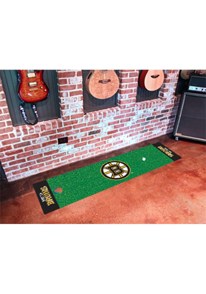 Boston Bruins 18x72 Putting Green Runner Interior Rug - Image 1