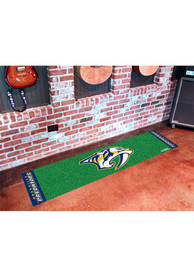 Nashville Preds 18x72 Putting Green Runner Interior Rug