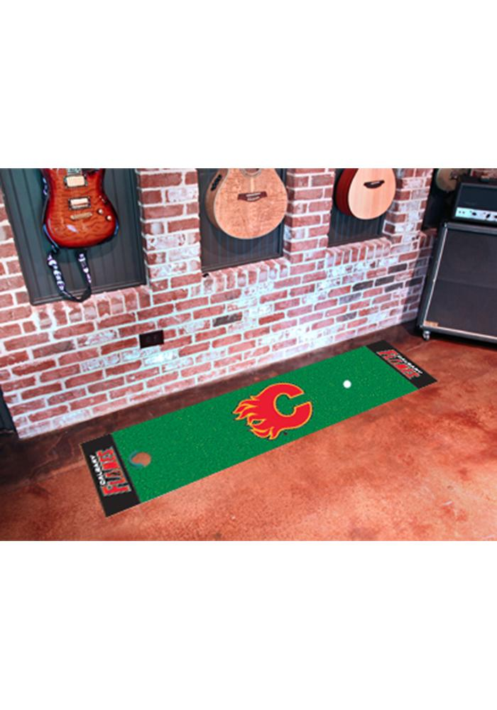 Calgary Flames 18x72 Putting Green Runner Interior Rug - Image 1