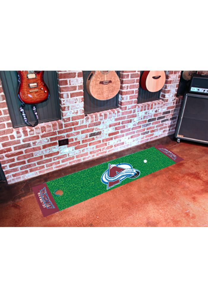 Colorado Avalanche 18x72 Putting Green Runner Interior Rug - Image 1