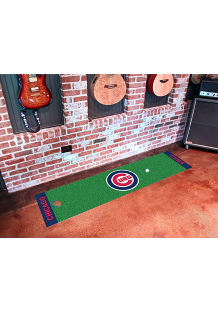 Chicago Cubs 18x72 Putting Green Runner Interior Rug - Image 1