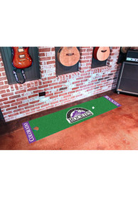 Colorado Rockies 18x72 Putting Green Runner Interior Rug