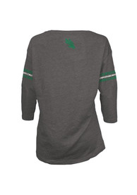 North Texas Mean Green Juniors Grey Hannity Fashion T-Shirt