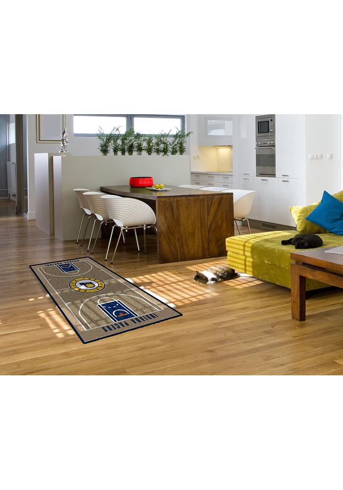 Indiana Pacers 29.5x54 Large Court Interior Rug - Image 2