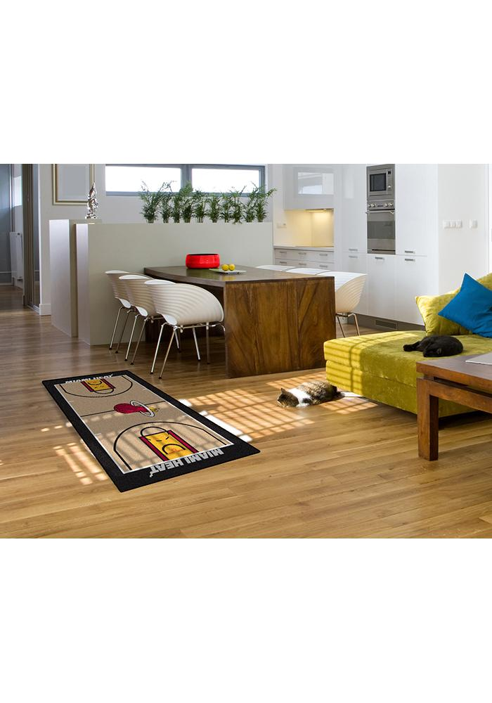Miami Heat 29.5x54 Large Court Interior Rug - Image 2