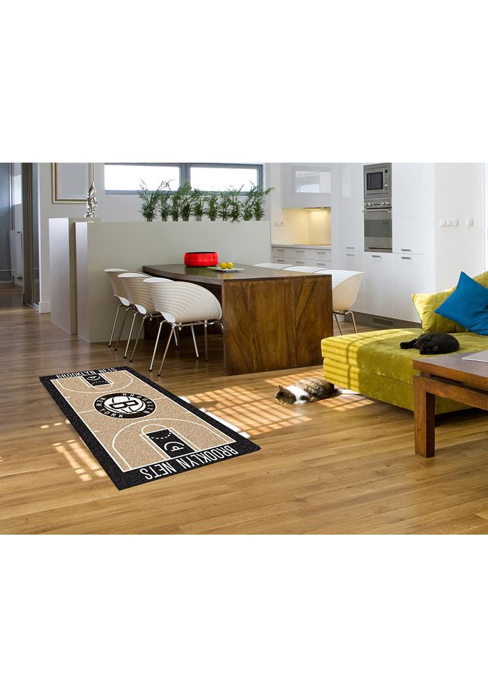 Brooklyn Nets 29.5x54 Large Court Interior Rug - Image 2