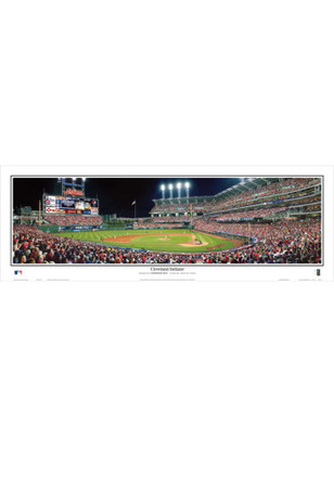 Cleveland Indians 13.5x39 Progressive Field Night Framed Posters