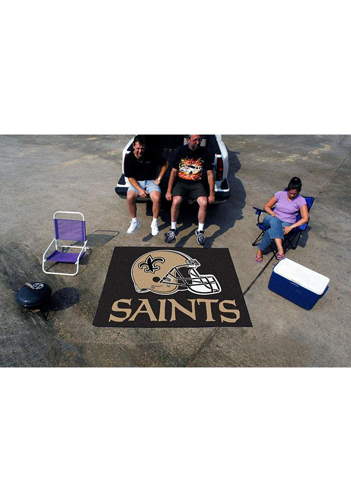 New Orleans Saints 60x70 Tailgater BBQ Grill Mat - Image 1