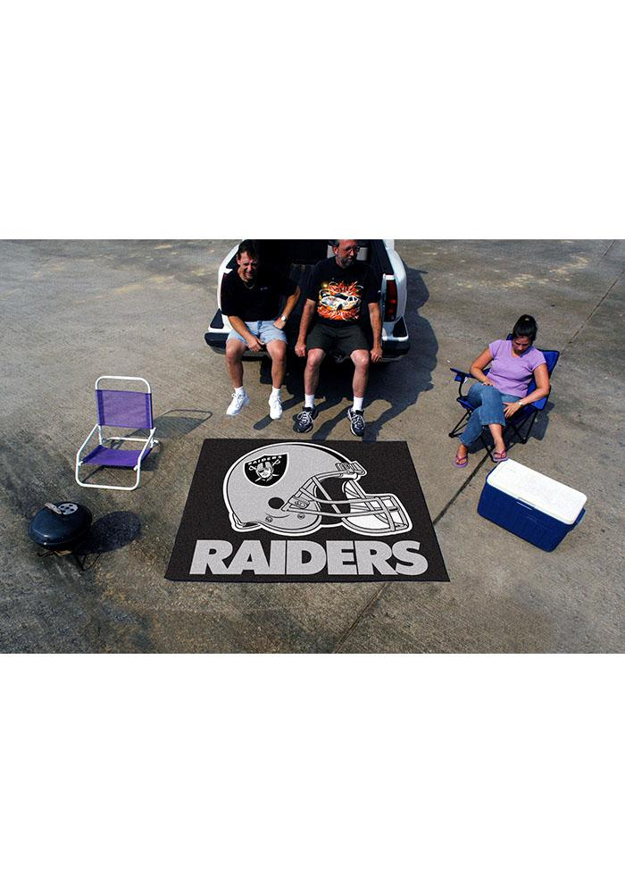 Oakland Raiders 60x70 Tailgater BBQ Grill Mat - Image 1