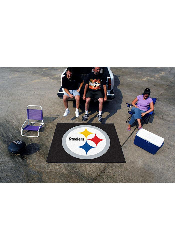 Pittsburgh Steelers 60x70 Tailgater BBQ Grill Mat - Image 2