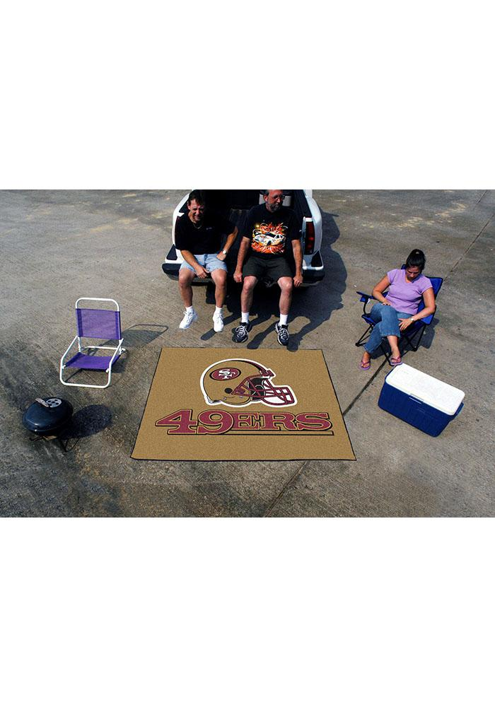 San Francisco 49ers 60x70 Tailgater BBQ Grill Mat - Image 1