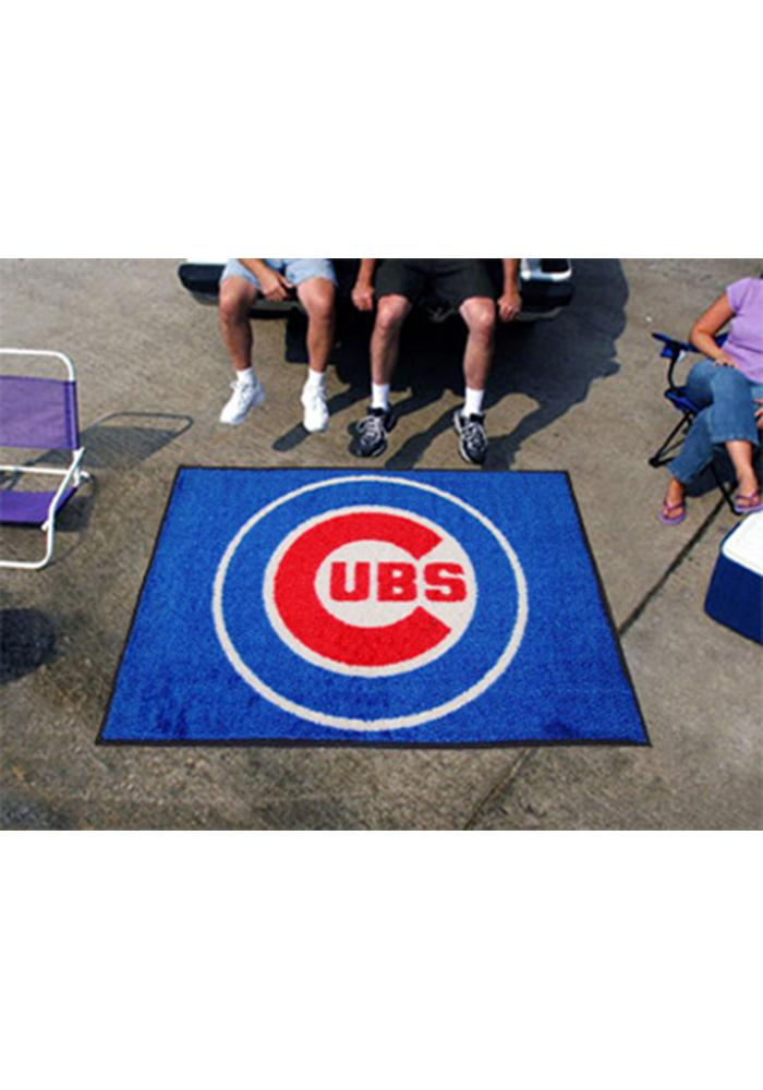 Chicago Cubs 60x72 Tailgater BBQ Grill Mat - Image 1