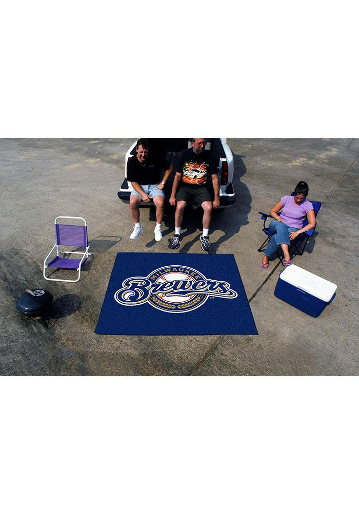 Milwaukee Brewers 60x72 Tailgater BBQ Grill Mat - Image 1