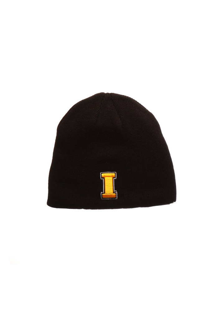 Zephyr Iowa Hawkeyes Black Edge Mens Knit Hat - Image 1