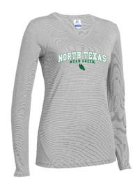North Texas Mean Green Juniors Straight Bottom Grey T-Shirt