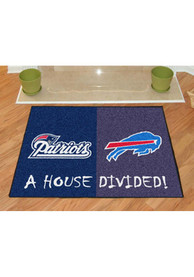 New England Patriots and Buffalo Bills 34x45 House Divided Interior Rug