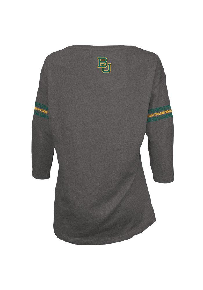 Baylor Bears Juniors Grey Hannity Fashion Long Sleeve T-Shirt - Image 2