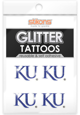 Kansas Jayhawks Glitter 4 Pack Tattoo