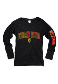 Ferris State Bulldogs Womens Scoop Black Scoop Neck Tee