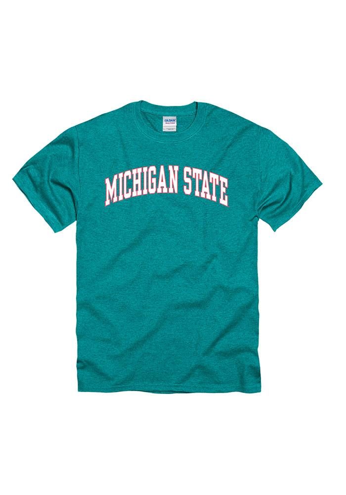 Michigan State Spartans Juniors Teal Fashion Practice Short Sleeve Unisex Tee - Image 1