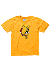 Ferris State Bulldogs Youth Gold Logo T-Shirt