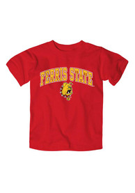 Ferris State Bulldogs Toddler Crimson Arch Logo T-Shirt