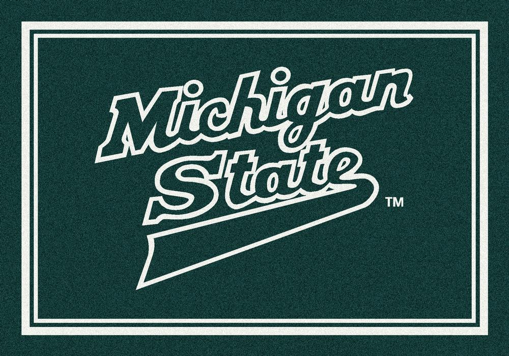 Michigan State Spartans 5x7 Spirit Interior Rug - Image 2