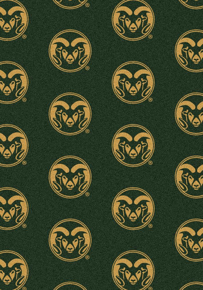 Colorado State Rams 3x5 Repeat Interior Rug - Image 2