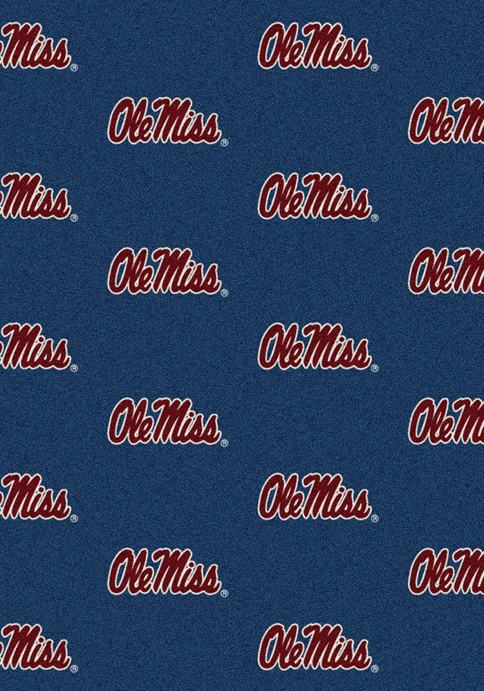 Ole Miss Rebels 3x5 Repeat Interior Rug - Image 2