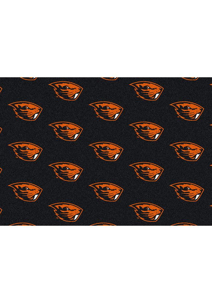 Oregon State Beavers 3x5 Repeat Interior Rug - Image 1