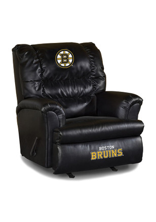 Boston Bruins Leather Big Daddy Recliner