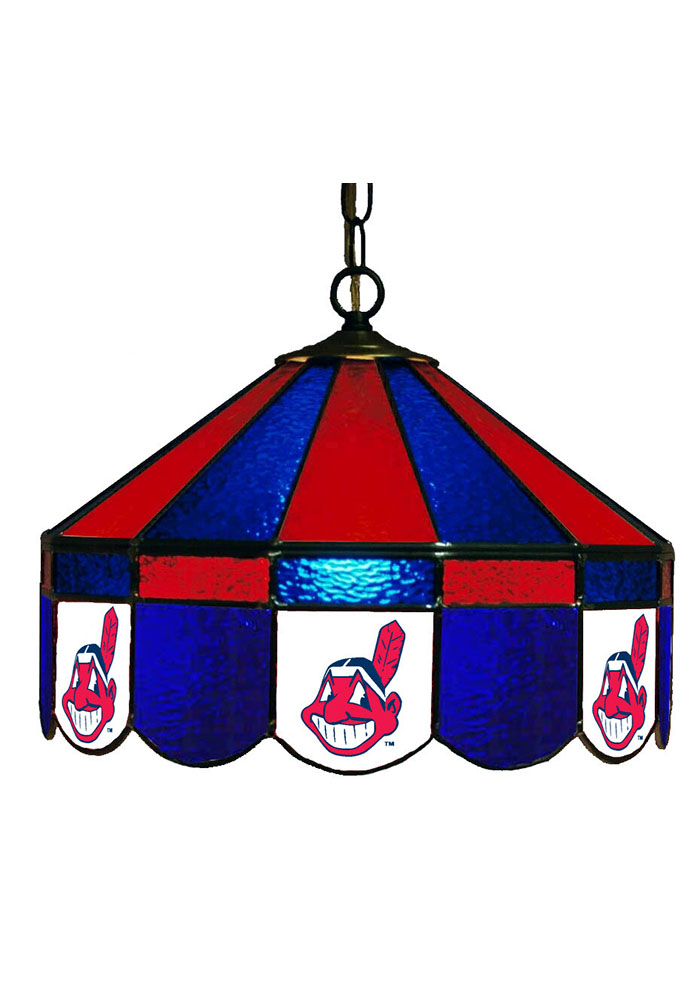 Cleveland Indians 14 Inch Stained Glass Pub Lamp 1930175