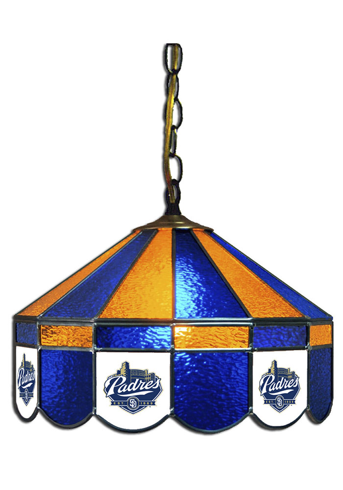 San Diego Padres 14 Inch Stained Glass Pub Lamp 1930182