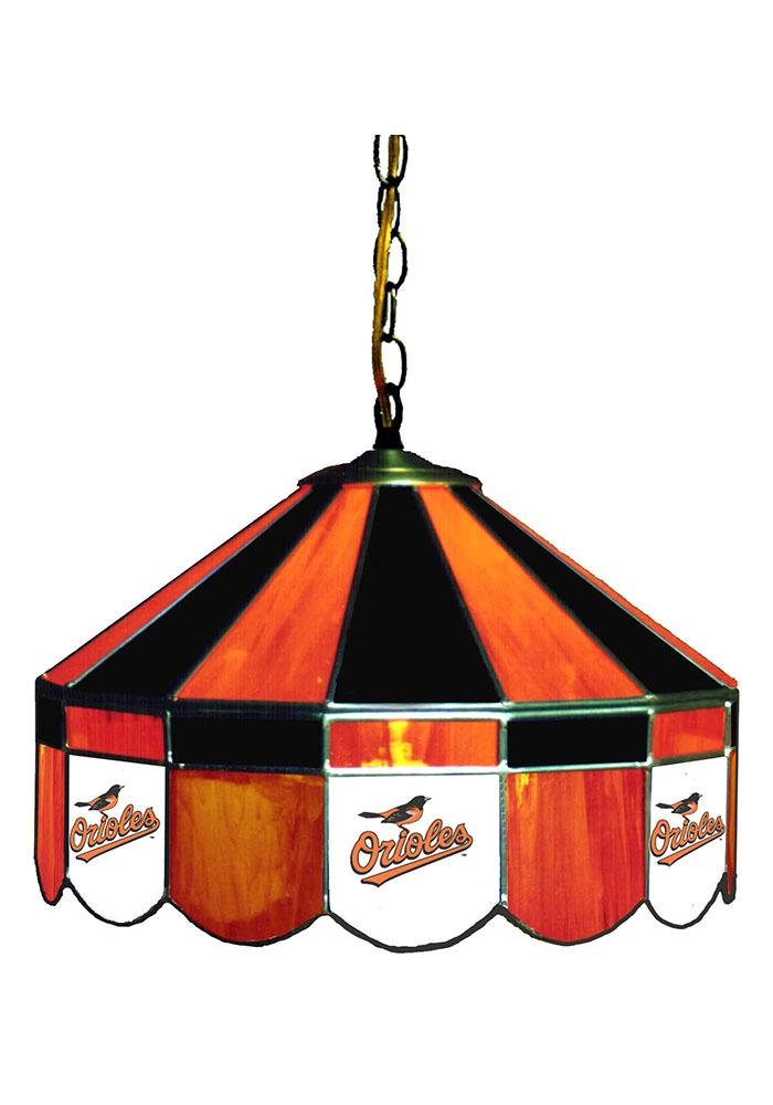 Baltimore Orioles 14 Inch Stained Glass Pub Lamp 1930185