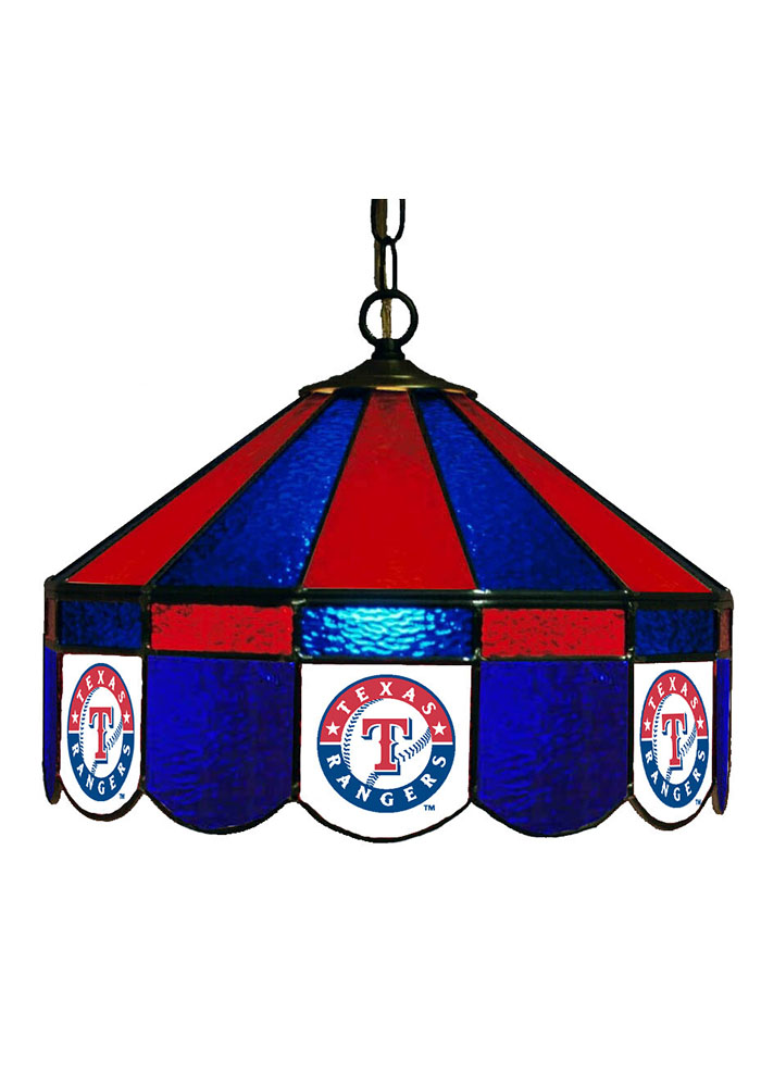 Texas Rangers 14 Inch Stained Glass Pub Lamp 1930191