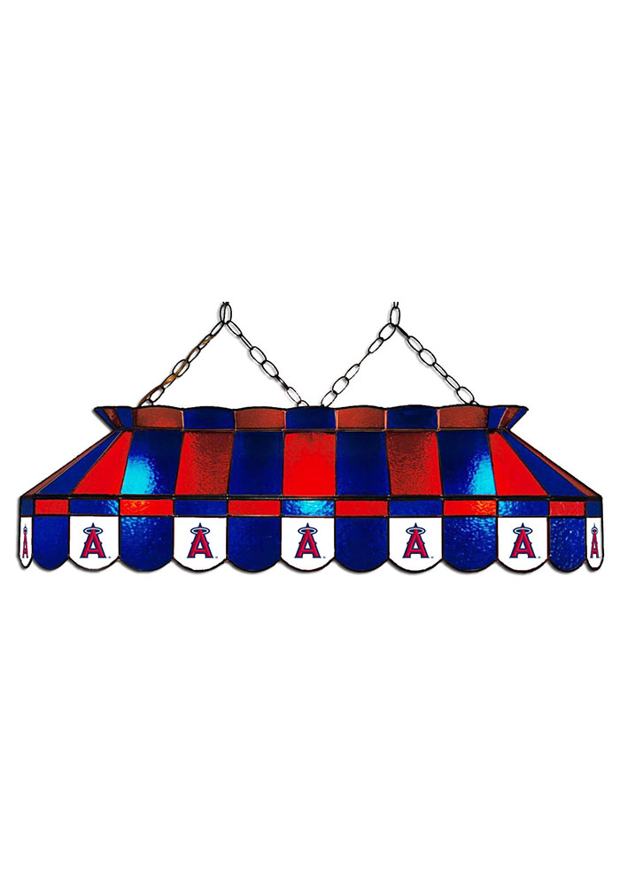 Los Angeles Angels 40 Inch Stained Glass Blue Billiard Lamp - Image 1