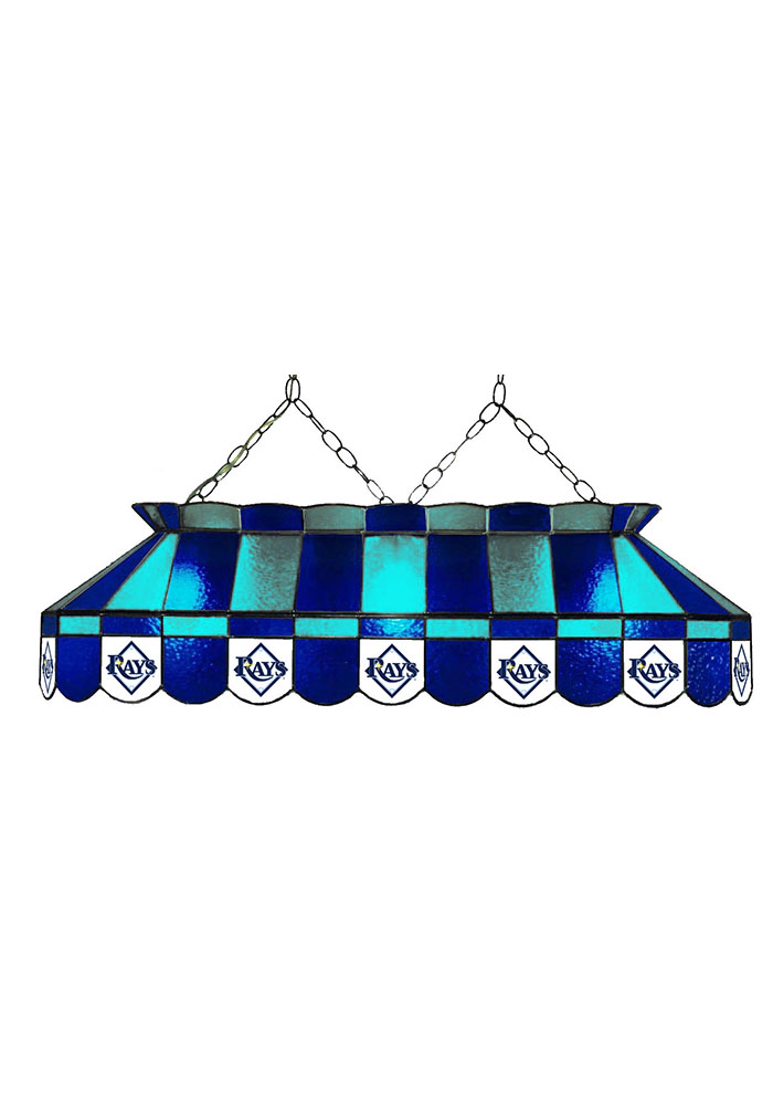 Tampa Bay Rays 40 Inch Stained Glass Blue Billiard Lamp 1930220