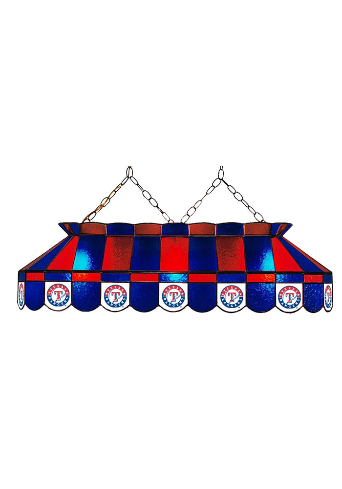 Texas Rangers 40 Inch Stained Glass Blue Billiard Lamp 1930221