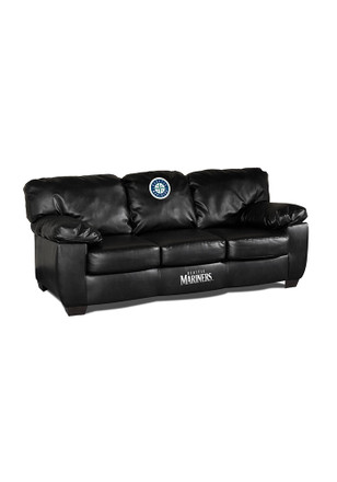 Seattle Mariners Black Leather Classic Sofa