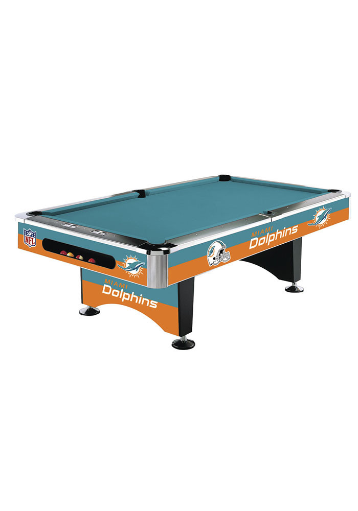 Miami Dolphins 8' POOL TABLE Pool Table - Image 1