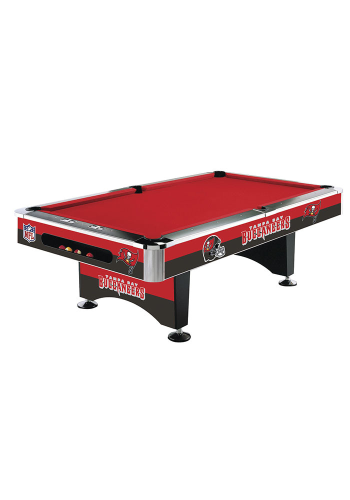 Tampa Bay Buccaneers 8' POOL TABLE Pool Table - Image 1