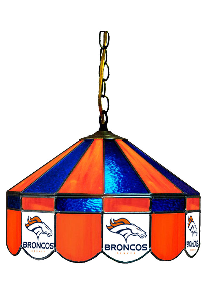 Denver Broncos 14 Inch Stained Glass Pub Lamp 1930504
