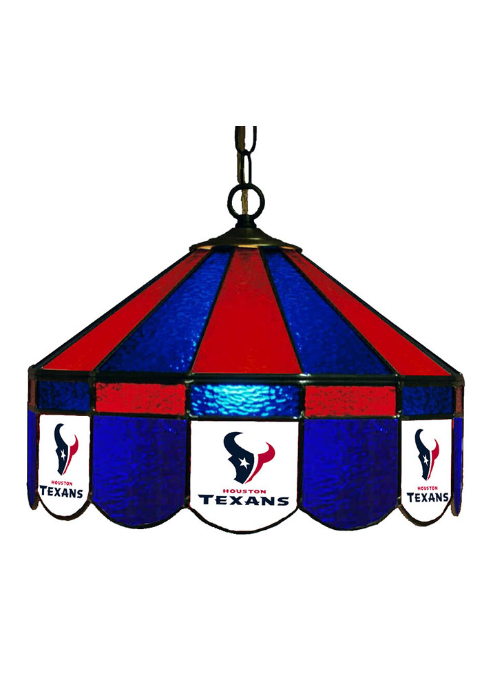 Houston Texans 14 Inch Stained Glass Pub Lamp 1930533
