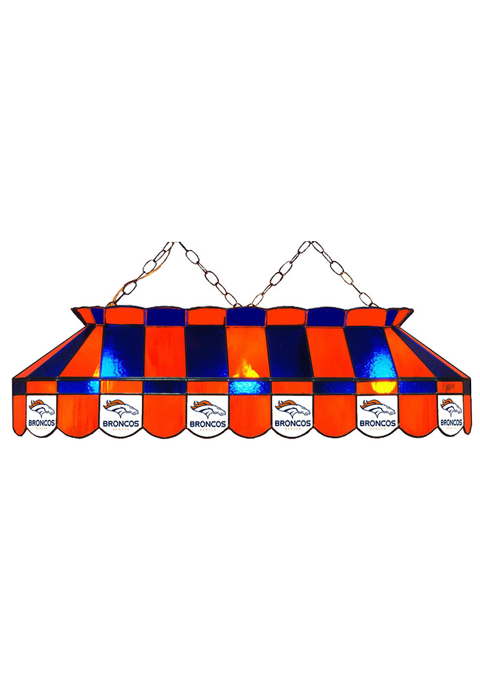 Denver Broncos 40 Inch Stained Glass Blue Billiard Lamp 1930536